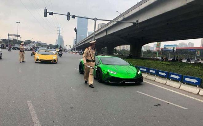 Siêu xe bị cảnh sát bắt trên đường Hà Nội gây xôn xao