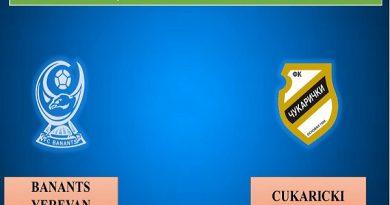 Dự đoán Banants Yerevan vs Cukaricki, 22h00 ngày 16/07