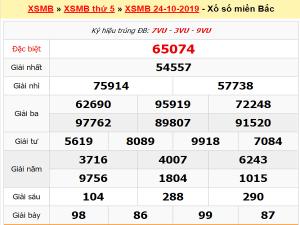 Nhận định cặp số đẹp trong kqxsmb thứ 6 ngày 25/10