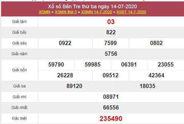 Phân tích XSBT 21/7/2020 - KQXS Bến Tre thứ 3 hôm nay