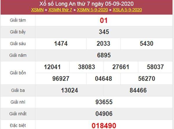 Thống kê XSLA 12/9/2020 chốt lô VIP Long An thứ 7