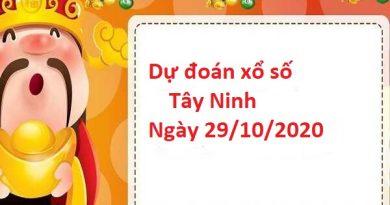 Dự đoán xổ số Tây Ninh 29-10-2020