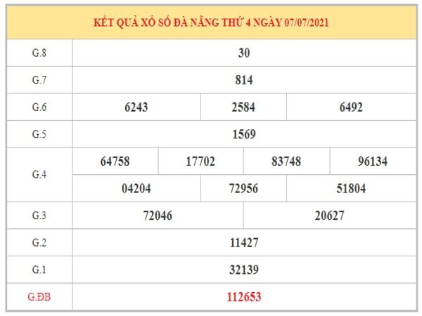 Soi cầu XSDNG ngày 10/7/2021 dựa trên kết quả kì trước