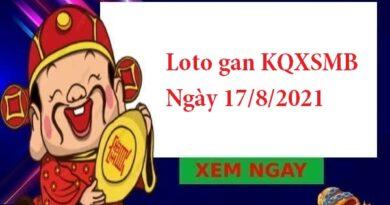 Loto gan KQXSMB 17/8/2021