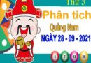 Phân tích XSQNM ngày 28/9/2021 – Phân tích KQ xổ số Quảng Nam thứ 3