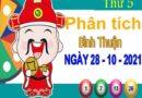 Phân tích XSBTH ngày 28/10/2021 – Phân tích đài xổ số Bình Thuận thứ 5